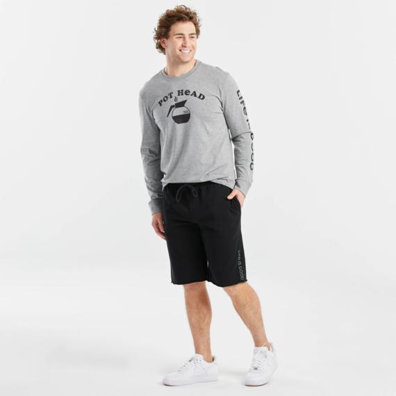 Men's Short Vert Logo Simply True Lounge French Terry Shorts