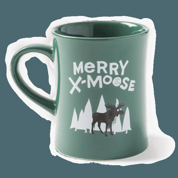 Merry X-Moose Diner Mug