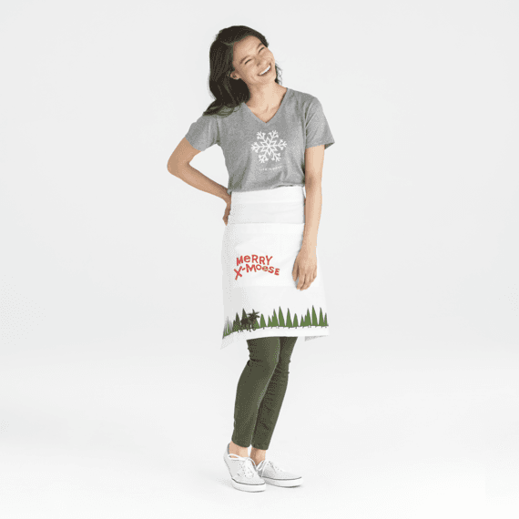 Merry X-Moose Holiday Helper Apron