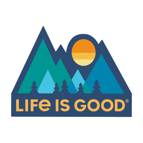 Minimal Mountains Die Cut Sticker
