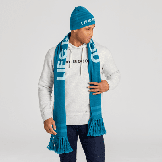 Minimalist Mountains Reversible Life is Good Scarf