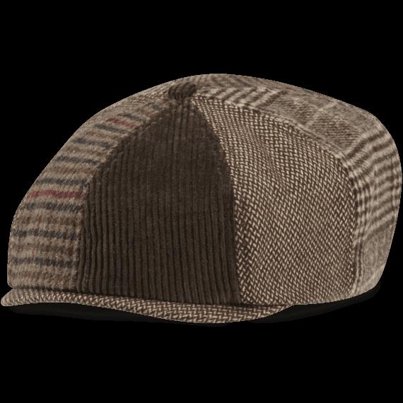 Mixed Patterns Brown Baker's Cap
