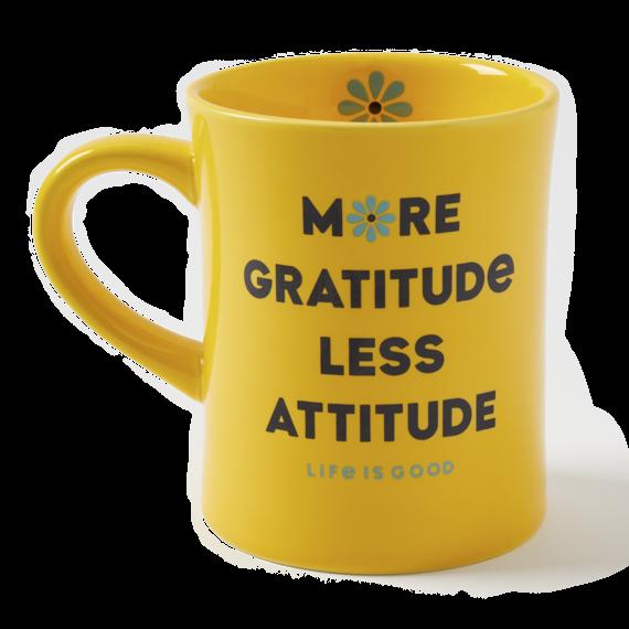 More Gratitude Daisy Diner Mug