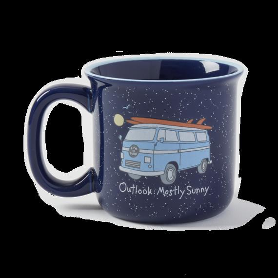 Mostly Sunny Van Happy Camper Mug