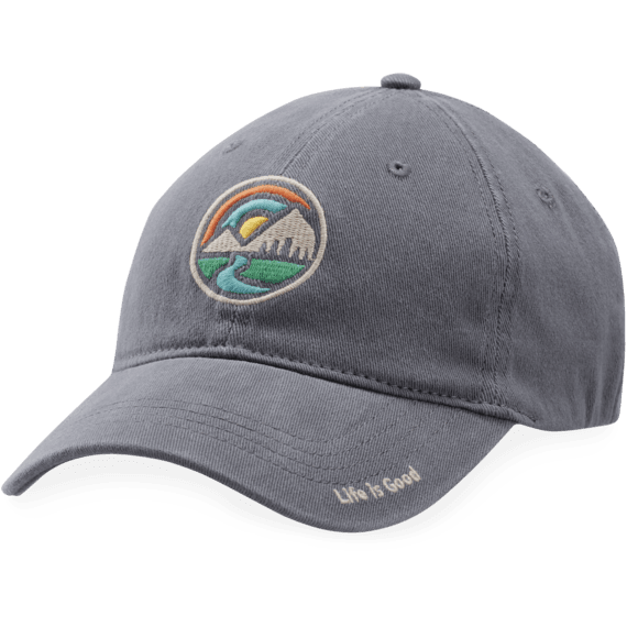 Mountain Circle Sueded Stretch Cap