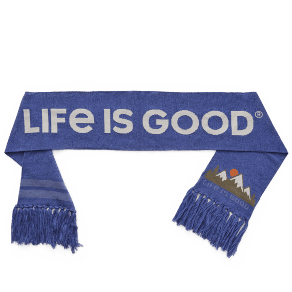 Mountain Scenic Reversible Life is Good Scarf