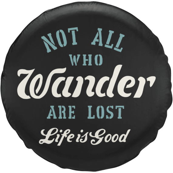 Hike More Worry Less Moutains Nature Outdoors Jeep RV Spare Tire Cover Black 33 in Silver Back Covers
