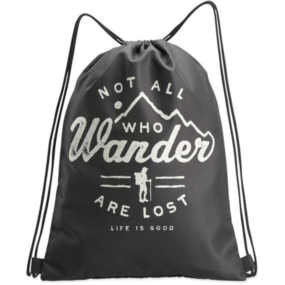 Not all Who Wonder Cinch Sack