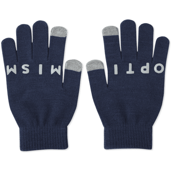 Optimistic Snowflake Texting Gloves