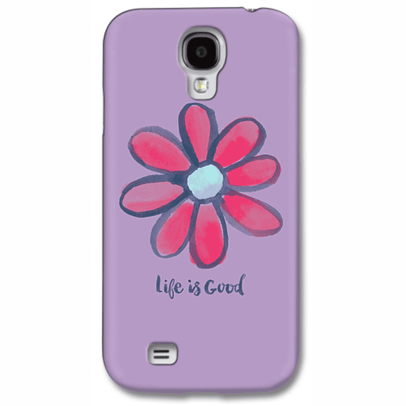 Life Is Good Red Daisy Phone Case
