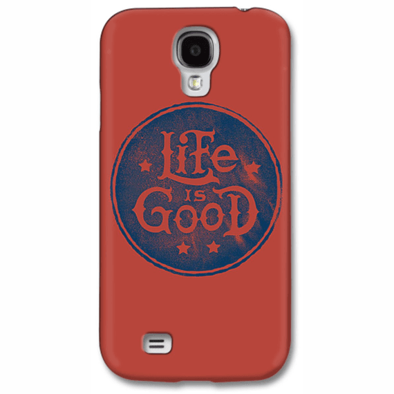 Stacked Life Is Good Circle Phone Case