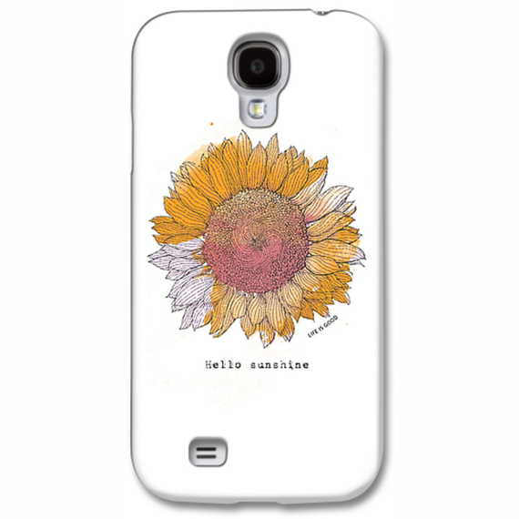 Sunflower Engraved Phone Case