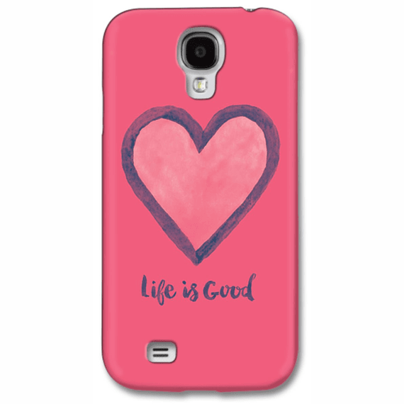 Life Is Good Heart Phone Case