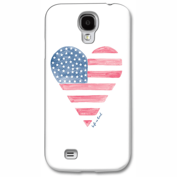 Life Is Good Heart Flag Phone Case