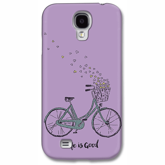 Bike Heart Basket Life Is Good Phone Case