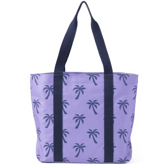 Palm Tree Pattern Sunny Day Cooler Tote