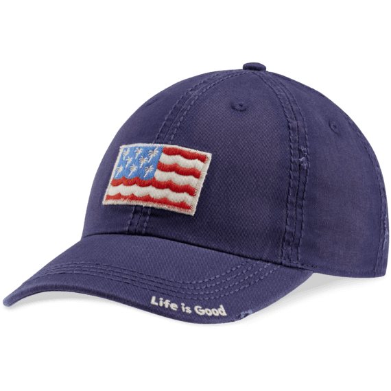 Palm Wave Flag Sunwashed Chill Cap
