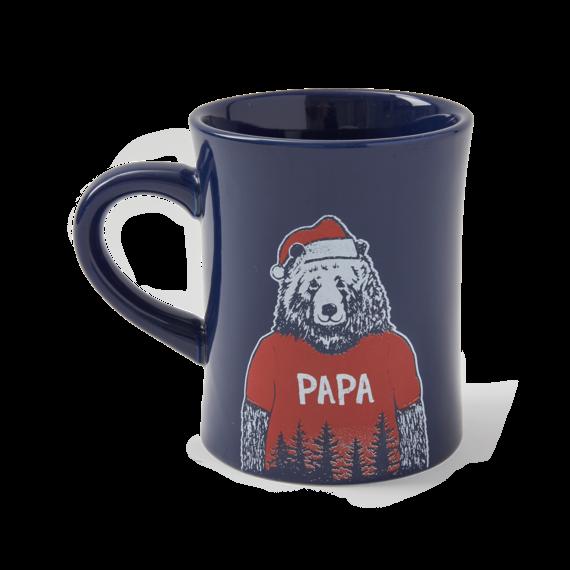 Papa Santa Bear Diner Mug