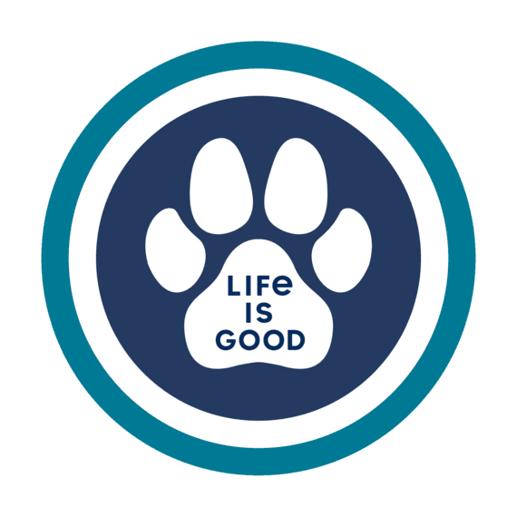 Paw Coin Magnet Life is Good 55594 Blue//White