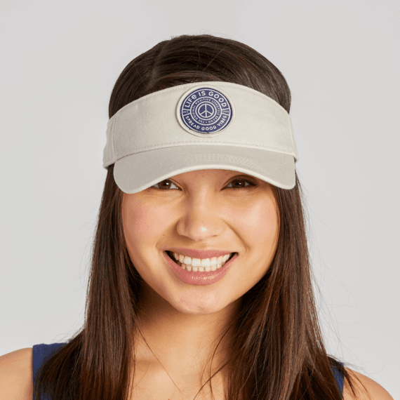 Peace Patch Sunwashed Visor
