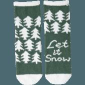 Pine Tree Pattern Plush Snuggle Sock