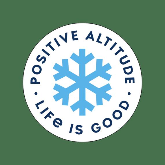 "Positive Altitude Snowflake 4"" Circle Sticker"