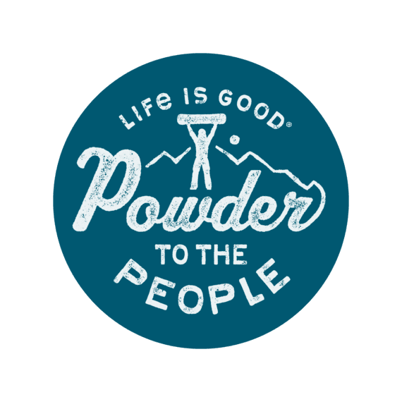 """Powder to the People 4"""" Circle Sticker"""