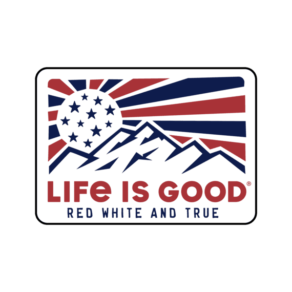 Red White and True Decal