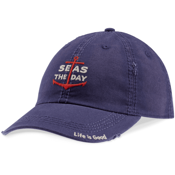 Seas The Day Anchor Sunwashed Chill Cap