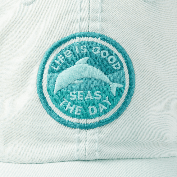 Seas The Day Dolphin Sunwashed Chill Cap