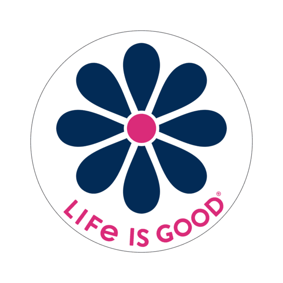 "Simple Daisy 4"" Circle Sticker"