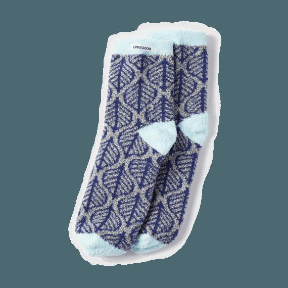 Simple Leaf Plush Snuggle Socks