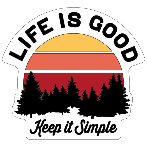 Simple Outdoor LIG Small Die Cut Decal