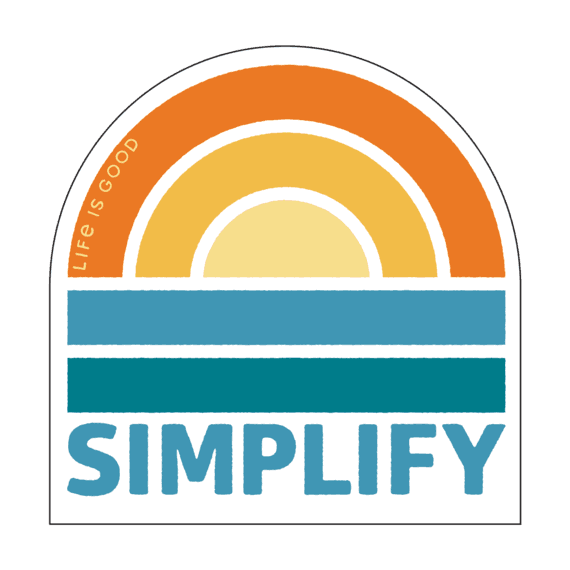 Simplify Sunset Decal