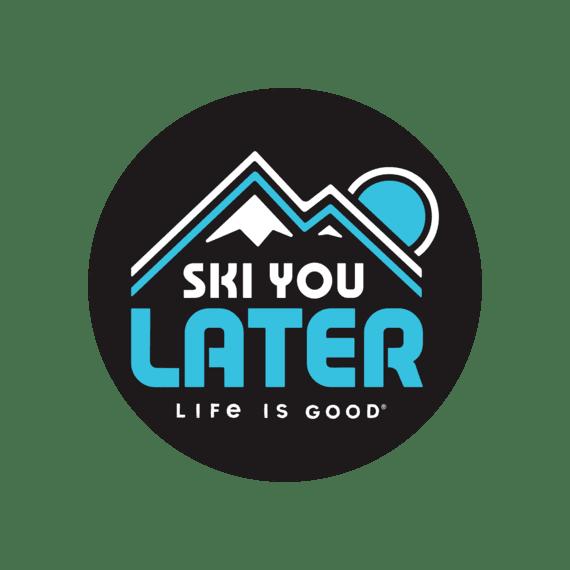 "Ski You Later 4"" Circle Sticker"