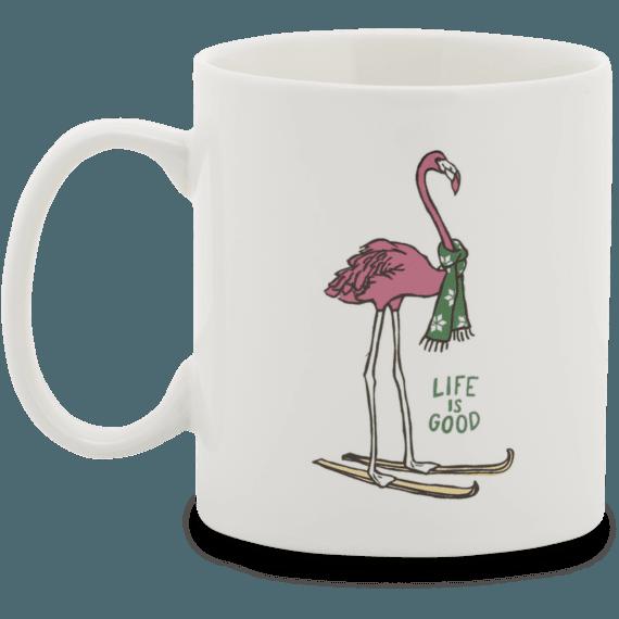 Skiing Flamingo Jakes Mug