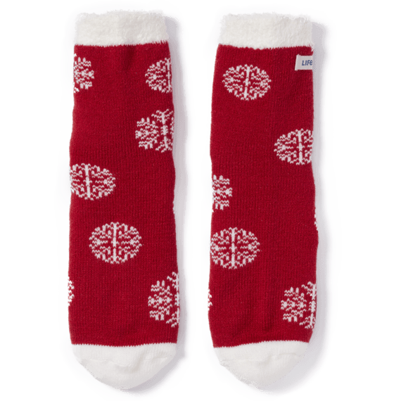 Snowflake Pattern Double Snuggle Sock