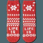 Snowflake Pattern Plush Snuggle Sock