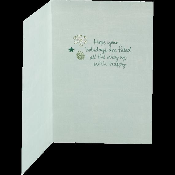 Snowflake Stocking Holiday Card