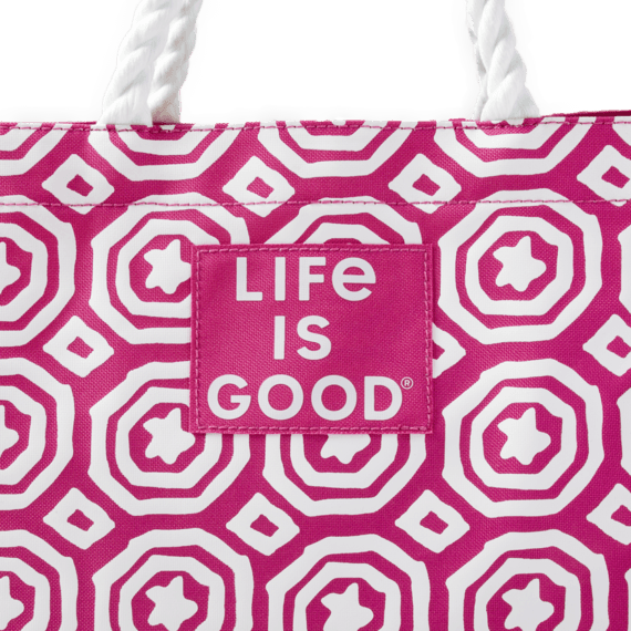 Star Medallion Sunny Day Large Beach Bag