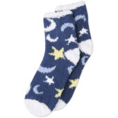 Starry Moon Sky Snuggle Crew Socks