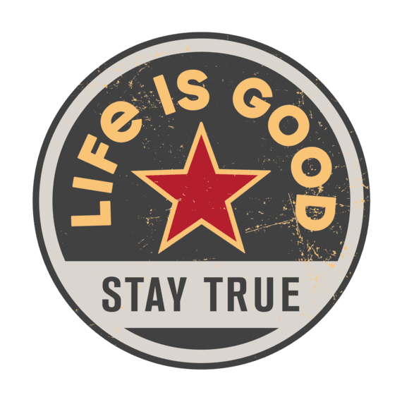 "Stay True Coin 4"" Circle Sticker"
