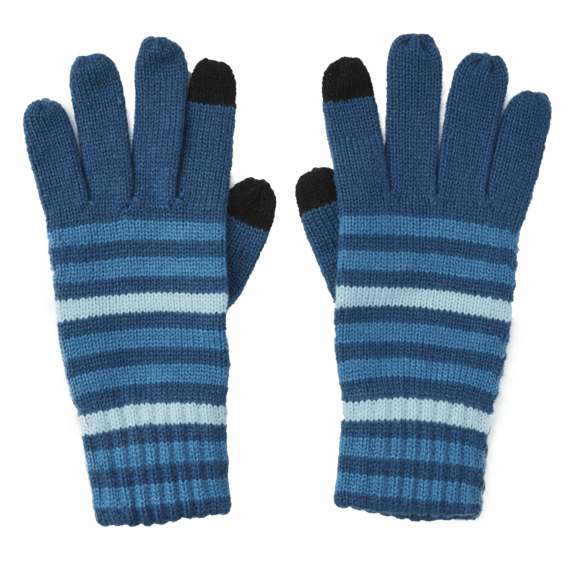 Stripes Texting Gloves