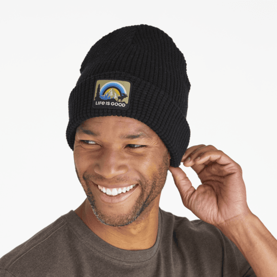 Sunbow Moose Patch Waffle Beanie