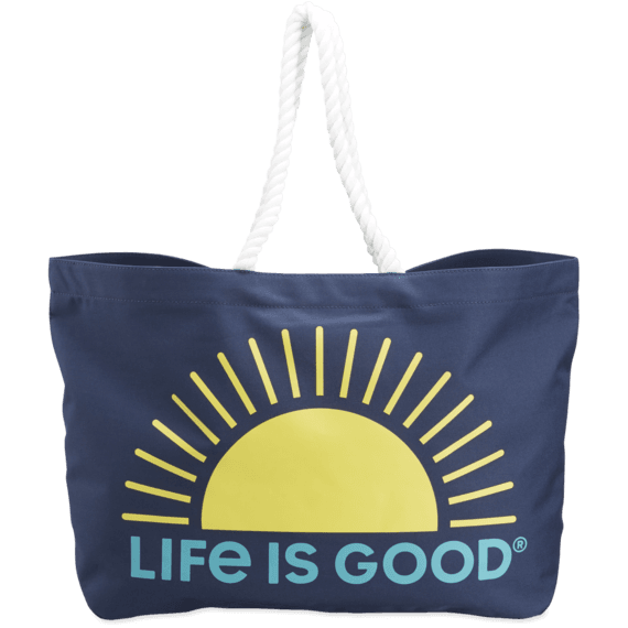 Sunrise Sunny Day Large Beach Bag