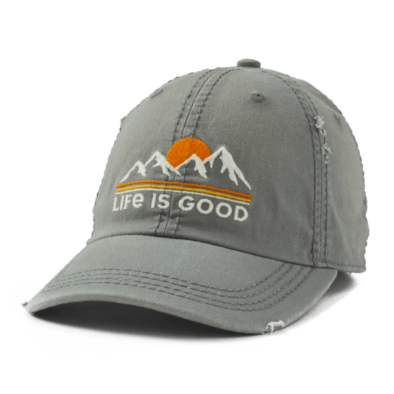 Sunset Mountains Sunwashed Chill Cap
