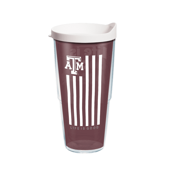 Texas A& M Flag Tervis Tumbler with Lid, 24oz