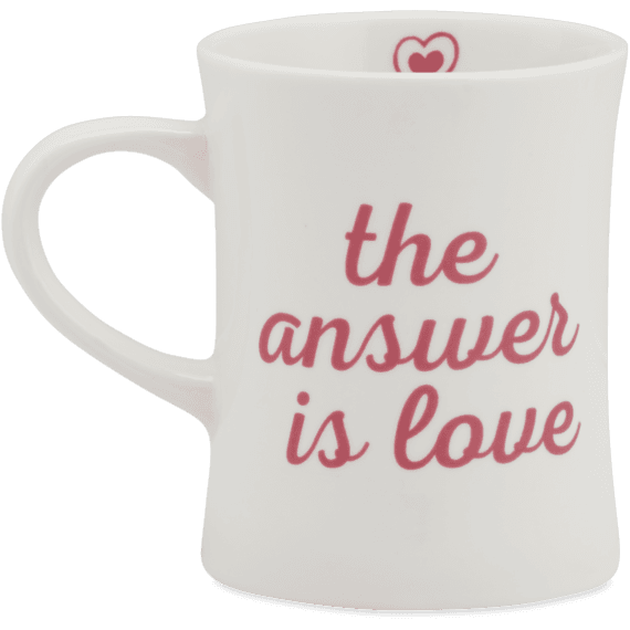 The Answer Is Love Diner Mug