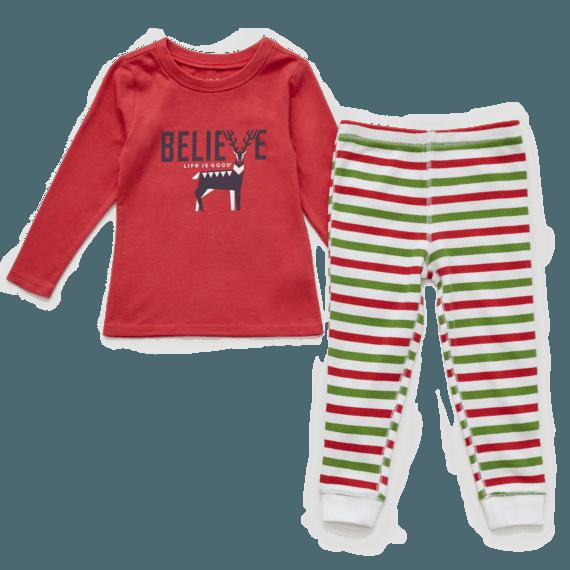 Toddler Believe Holiday Squad Sleep Set