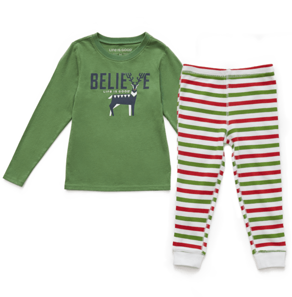 Toddler Believe Holiday Squad Sleep Set
